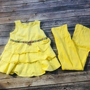 Girls vintage Gymboree yellow matching set Size7/8